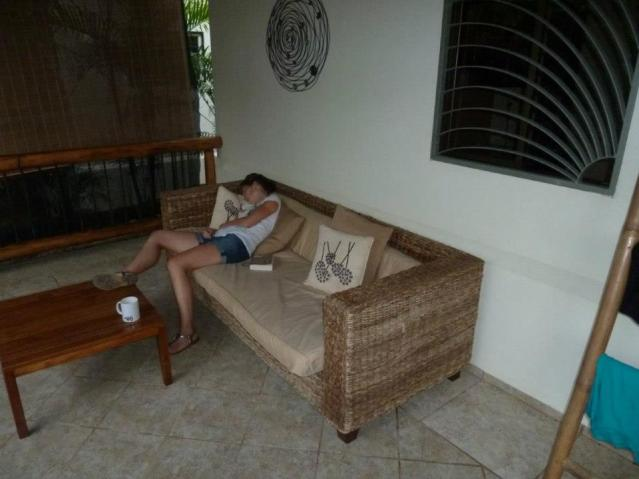Post-surfing nap in Costa Rica.